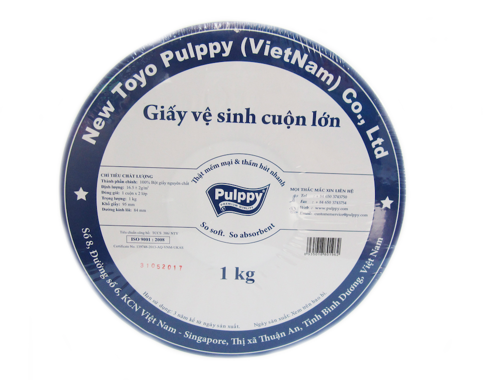 Pulppy JRT Bathroom Tissue 1 Roll, 1 kg