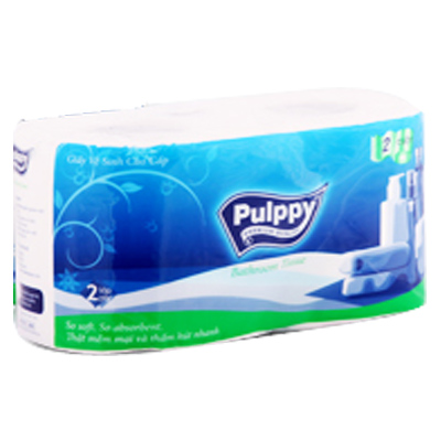 Pulppy Bathroom Tissue 2 Rolls x 5