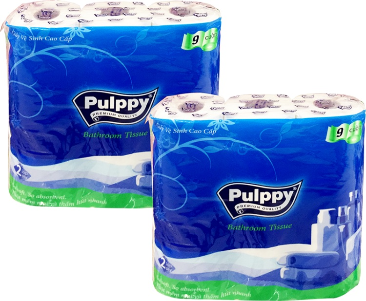 Pulppy Bathroom Tissue 9 Rolls