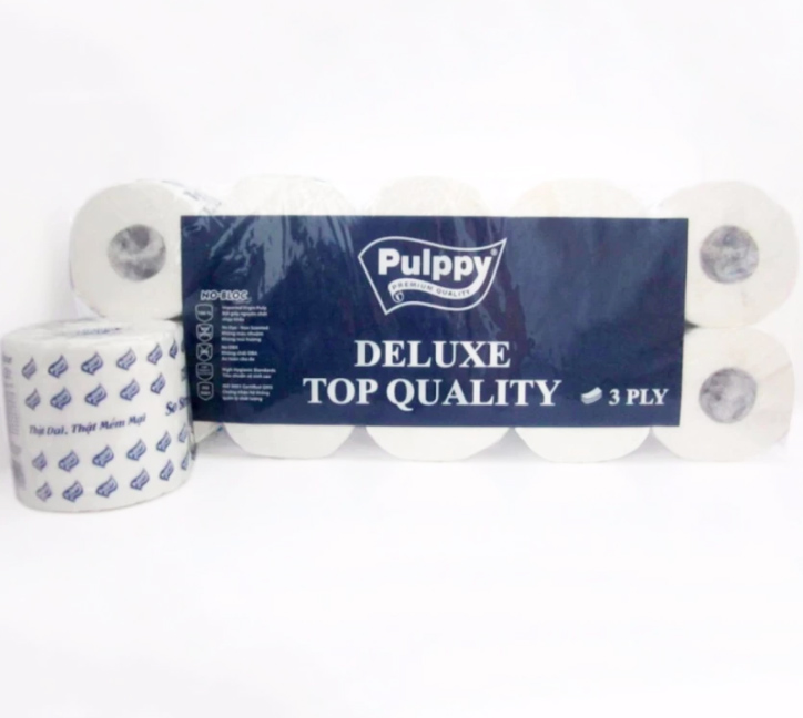 Pulppy Deluxe Bathroom Tissue 3 Ply