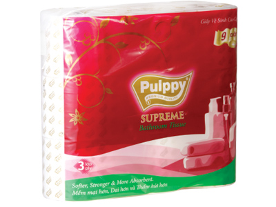 Pulppy Supreme Bathroom Tissue 9 Rolls